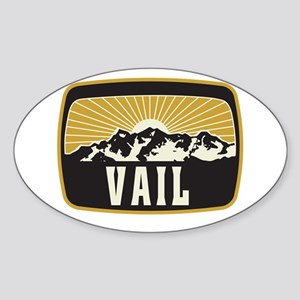 Vail Sunshine Patch Sticker (Oval)